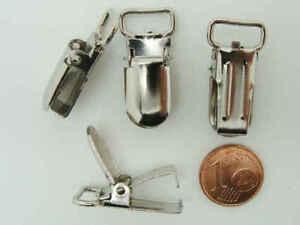 prix d'usine bébé codes promo Détails sur 8 pinces bretelles Attaches torchons nappe tétine métal argente  27x13mm DIY Déco