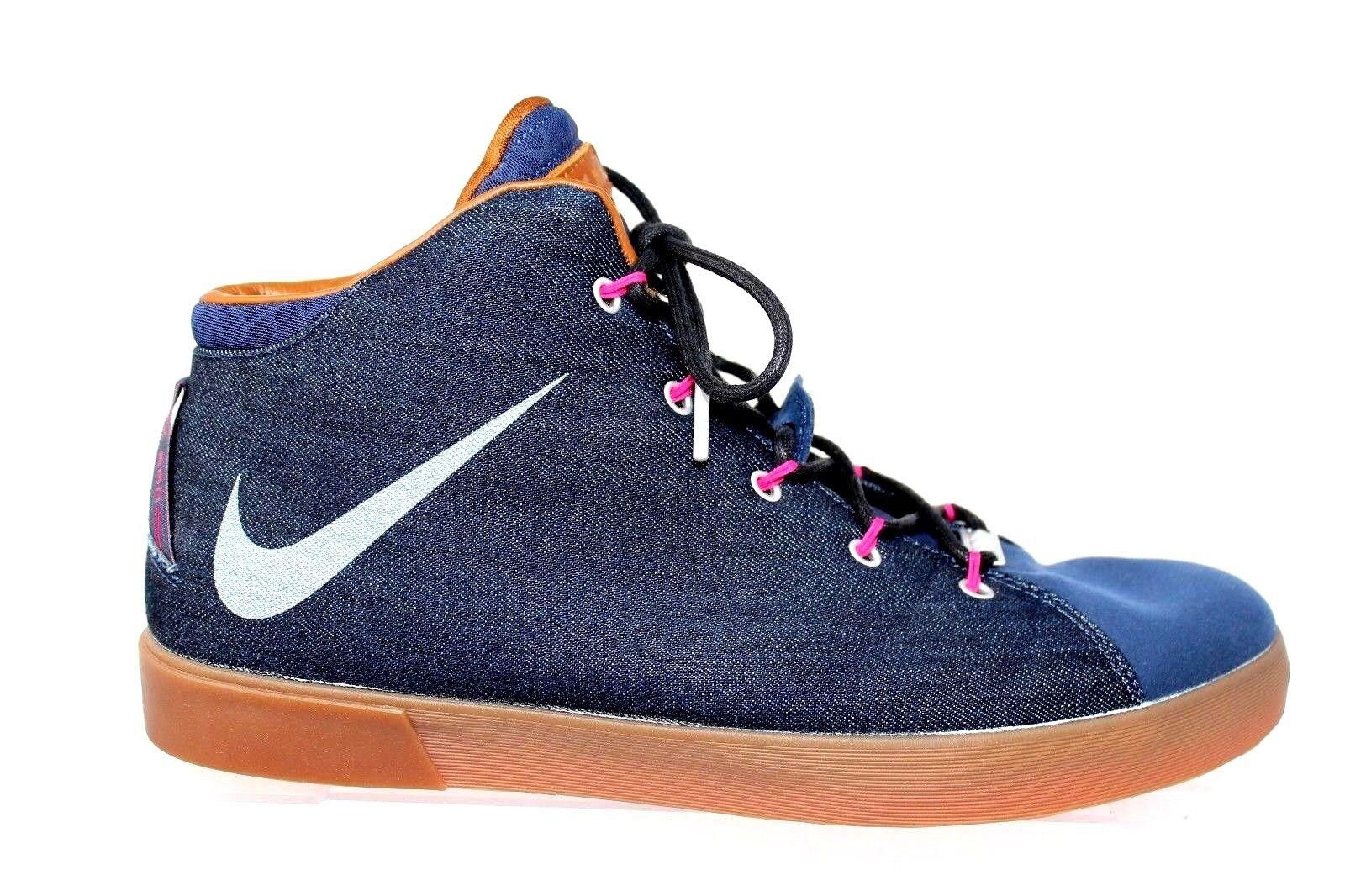 Nike Lebron XII NSW Lifestyle QS Denim Sneaker 716424-400 Mens Size 15