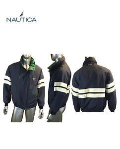 Vintage-Nautica-Men-s-Sail-Sports-Jacket-Col-Navy-Block-Windbreaker-Size-S