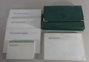 Jaguar Owner's Manual Book Owners Guide Black Leather Case Wallet OEM