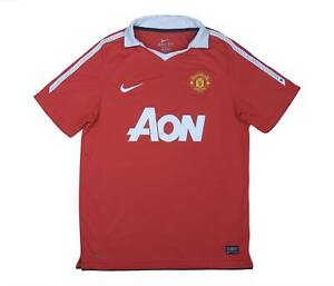 Manchester United 2010-11 Authentic Home Shirt (eccellente) M SOCCER JERSEY