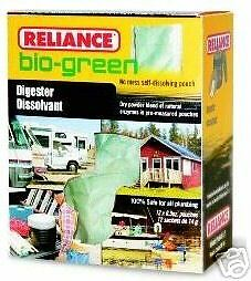 2 Box 24pk Reliance Bio Green Chemical Toilet Digester