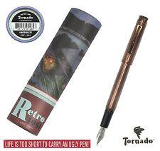 Retro 51 Lincoln EXT Copper Tornado Fountain Pen #VRF-1331-F / Fine Point NIB
