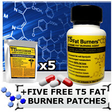 T5 FAT BURNERS + 5 FREE T5 FAT BURNER PATCHES! STRONG LEGAL DIET/SLIMMING PILLS
