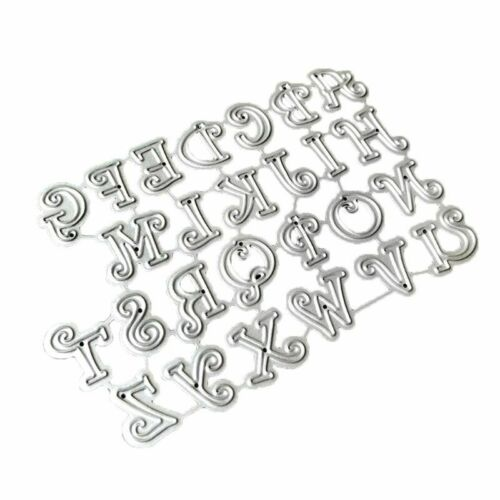 Cartoon Capital Letters Cutting Die Embossing Stencil DIY Paper Scrapbook Card
