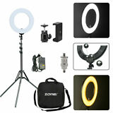 Zomei 18 LED Ring Light Dimmable 5500K Continuous Lighting Camera Photography