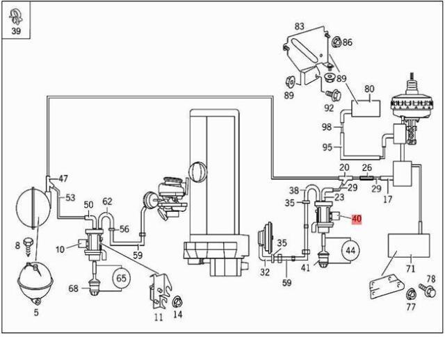 1999 mercedes e300 egr set valve oem a0005450427