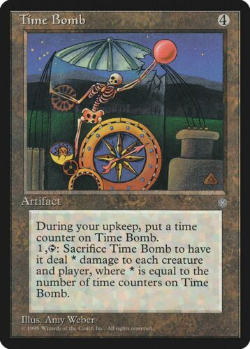 Time Bomb Ice Age PLD Artifact Rare MAGIC THE GATHERING MTG CARD ABUGames