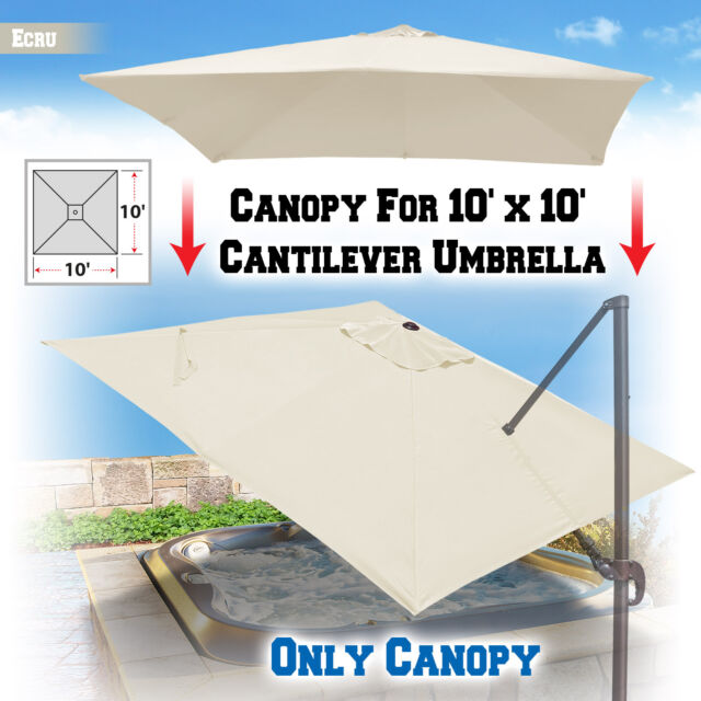 Delicieux Replacement Canopy For 10u0027x10u0027 ROMA Cantilever Patio Umbrella Cover Parasol  Top