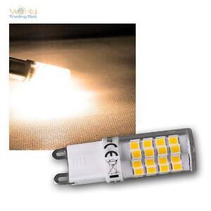 5x-LED-Stiftsockel-Leuchtmittel-G9-warmweiss-4W-270lm-Mini-Stiftsockellampe-Birne
