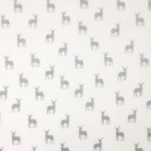 Silver /& white Christmas fabric bundles /& fabrics per half metre 100/% cotton