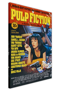 PULP-FICTION-MOVIE-POSTER-CANVAS-WALL-ART-PICTURES-HOME-DECOR-PRINTS-FILM-ART