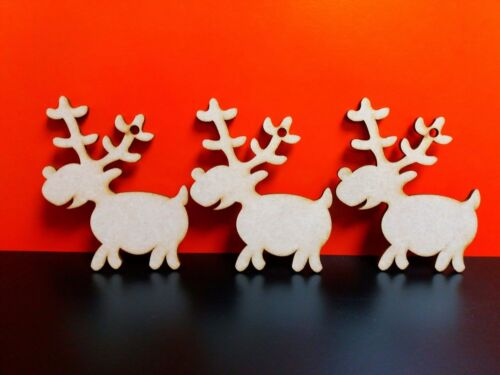 MDF Christmas Hanging Reindeer Bunting Craft Embellishments Decorations