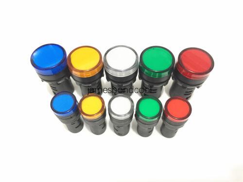5pcs//Lot Mixed color of 16mm//22mm LED Power Indicator Signal Light Pilot Lamp