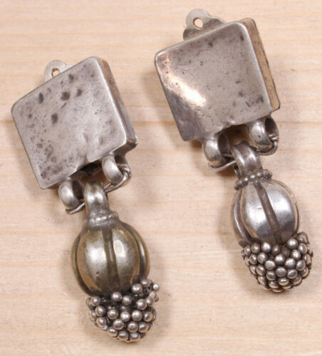 Lovely Sterling Silver Articulated Clip On Dangle