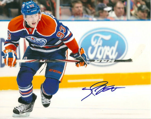 Edmonton Oilers Ryan Nugent Hopkins Signed Autographed 8x10 Photo COA A