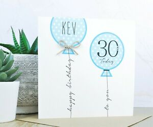 Lovely handmade birthday card 13th 16th 18th 21st 30th 40th 50th 60th personalised