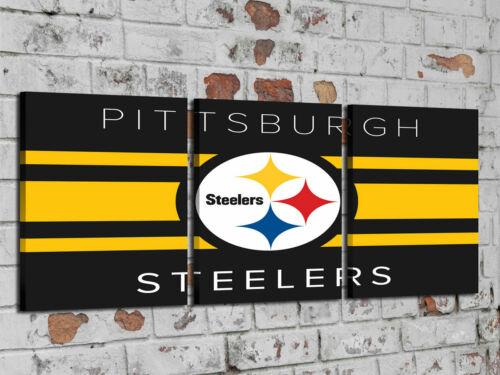 Oil Painting HD Print Wall Decor Art on Canvas PITTSBURGH STEELERS Unframed