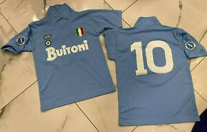 1-maglia-MARADONA-NAPOLI-BUITONI-10-1987-88-taglia-adulti-e-bambini-ricamata