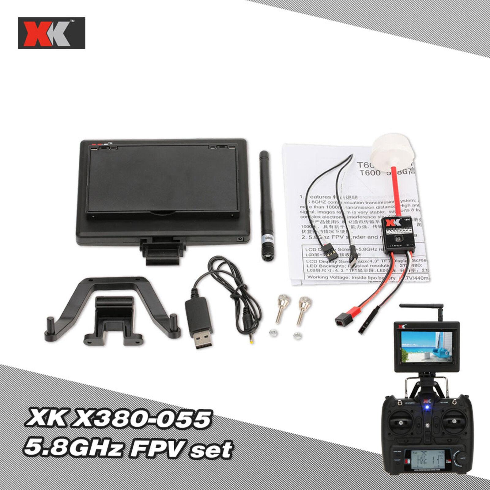 XK Actualizado partes X380-055 5.8GHz AV TX RX FPV conjuntos para XK X380 RC Cuadricóptero
