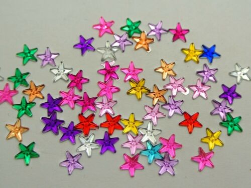 2000 Mixed Color Acrylic Flatback Tiny Star Rhinestone Gems 6mm DIY Embellishmen