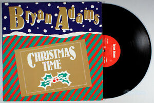 "Bryan Adams - Christmas Time (1985) Vinyl 12"" Single • PROMO • Holiday"