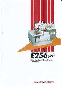Sewing-Machine-Brochure-Willcox-amp-Gibbs-E256-series-Overedgers-1986-E3925