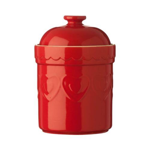 rouge en grès 1.5ltr Sweet Heart Storage Canister