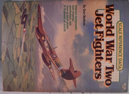 Vintage WWII Jet Fighters Historical Scale Reference Data Airplane Berliner