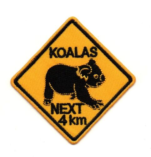 Koalas Next 4 km Sign Symbol Retro P977 Embroidered Iron on Patch High Quality