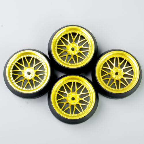 Hot Sell 12mm Hex 4Pcs a set Tires/&Wheel For HSP HPI RC 1//10 Off Road Racing Car