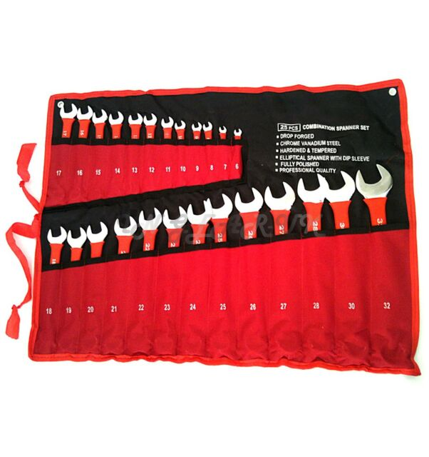 25pc Insulated Metric Combination Spanner Tool Set 6mm-32mm PRO open ended 32mm