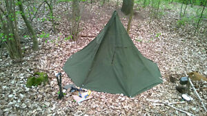 sports shoes 7c15f 91ce5 Details about Tent Teepee Lavvu Poncho 2pcs set, Polish Army Olive  Canvas_NEW_PERFECT_size 2