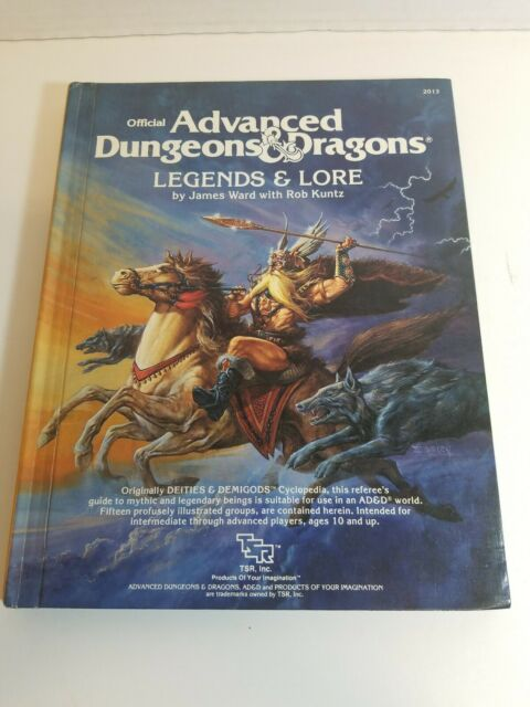1983 TSR - Dungeons and Dragons - 2013 Legends & Lore Hardback