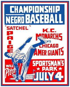 KC-MONARCHS-CHICAGO-GIANTS-8X10-PHOTO-BASEBALL-POSTER-PICTURE-NEGRO-LEAGUE-PAIGE