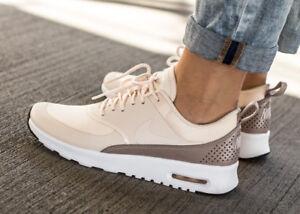 sélection premium a4526 b7545 Détails sur NIKE WMNS NIKE AIR MAX THEA 599409-804 chaussures femmes sport  loisir beige