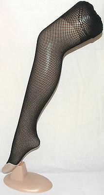 Black Footless NylonTights with Triple Gold Band By Flirt A027.66 One Size