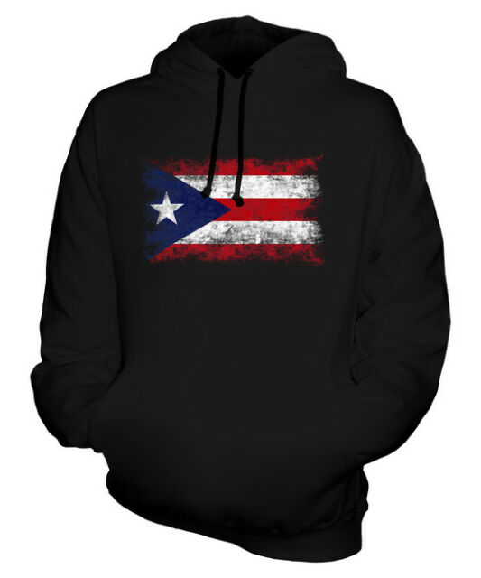 Mens Hoodies Puerto Rico PR Flag Full Print Sweatshirt Pullover Jackets Hooded