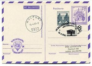 1983 Ballonpost N. 69 Pro Juventute Aerostato Oe-azr Sumsi Dornbirn Wolfurt Ture 100% Garantie
