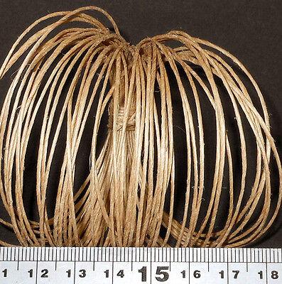 1mm Natural Jute String Polished// Waxed Jewellery// Shamballa Cord Beading Twine