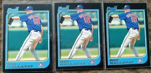 (3) 1997 Bowman Roy Halladay 1st Bowman Card - Toronto Blue Jays