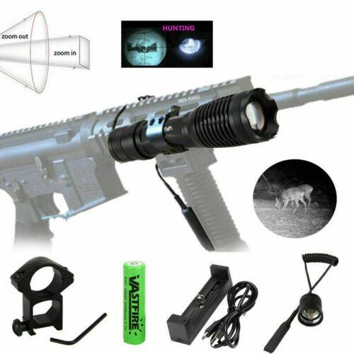 Zoom Illuminator 940nm IR Infrared LED Night Vision Flashlight Torch Gun Mount