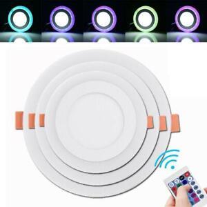 RGB-LED-Panel-Lamp-Dimmbar-Einbaustrahler-Deckenleuchte-Einbauleuchte-Strahler