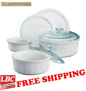 corningware-french-white-7pc-set-casserole-round-X-pyrex-corelle-kitchenaid