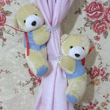 1 Pair of Fluffy Bear Curtain Tie Back Tiebacks Curtain Buckle Holder Decor