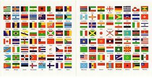 192 Vlaggen van de wereld voor bijvoorbeeld in muntenalbum of op ladesysteem