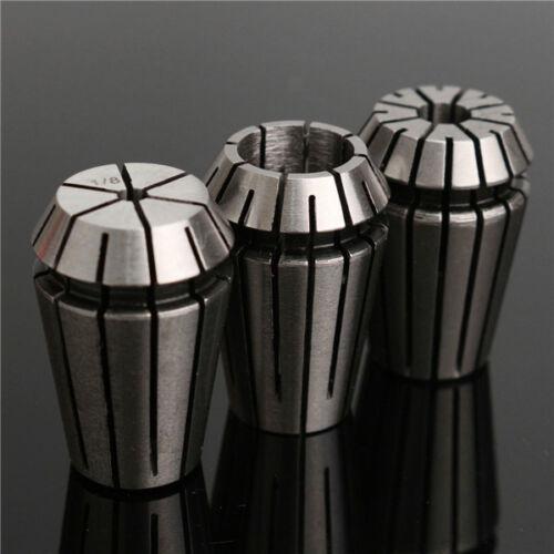 3pcs ER20 Spring Collet Set 1//8 Inch to 1//2 Inch Chuck Collet for CNC Milling La