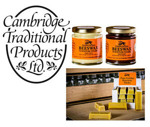 Details about Cambridge Traditional Products Beeswax Wood Furniture Polish  and Beeswax Sticks