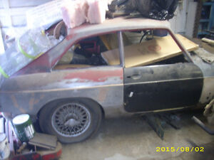 1967 MG MGB GT Hatchback for parts