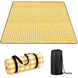 Waterproof Picnic Blanket with Backing - 2m x 2m Large Mat for Beach Camping